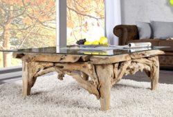 Table basse en bois flotté