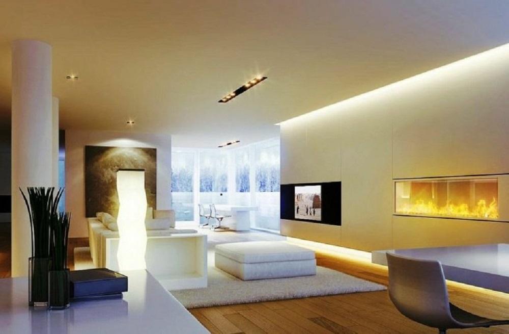 Décorer son salon grâce à un système d'éclairage LED